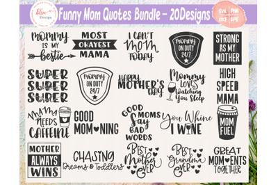 Funny Mom SVG Bundle