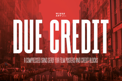 Due Credit - The Compressed Poster Font