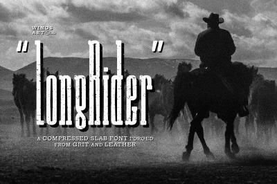 Long Rider - The Tall Cowboy Font