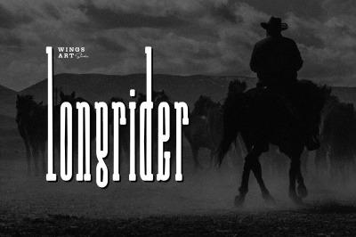Long Rider - The  Cowboy Compressed Slab Font