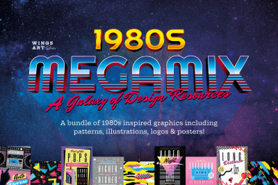 1980s Graphics Bundle Megamix