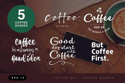 Coffee badges ( vector )