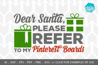 Dear Santa - SVG, PNG & VECTOR Cut File