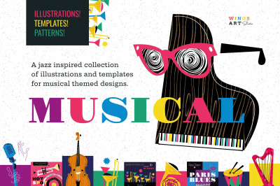 Musical Instrument Icons and Illustrations