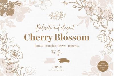 Cherry Blossom graphic set