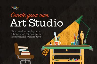 Art Studio Illustrations - Create Your Own Art Studio