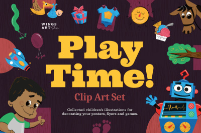 Playtime! Children's Clip Art Set