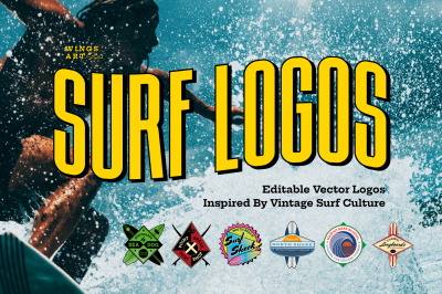 Surf Logos Design Templates