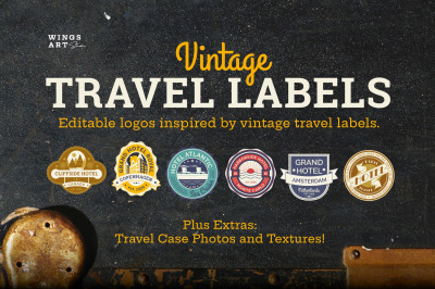 Vintage Tavel Labels and Logo Templates