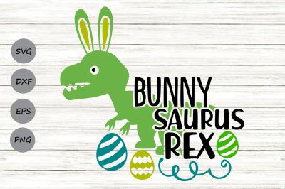 Bunnysaurus Rex Svg, Easter Svg, Easter Dinosaur Svg, Boy Easter Svg.