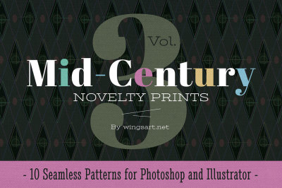 Mid-Century Retro Patterns: Volume Three