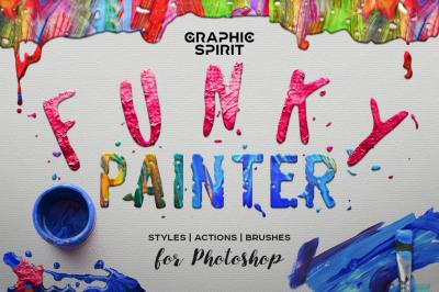 FUNKY PAINTER Photoshop Creative Kit