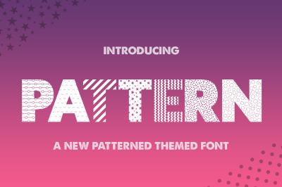 Pattern Silhouette Font