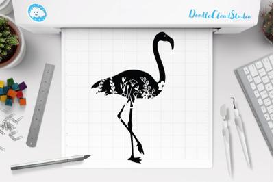 Floral Flamingo SVG Flamingo Clipart