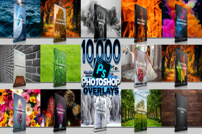 BIG BUNDLE 10.000 PHOTOSHOP OVERLAYS, BACKGROUNDS, BACKDROPS