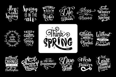 Spring Quotes Design SVG Bundle