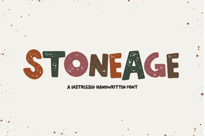 Stoneage - Distressed Handwritten Font