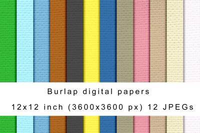 Burlap digital papers
