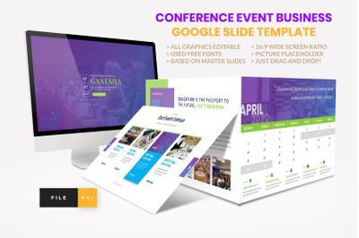Conference - Event Business  Seminar Google Slide Template