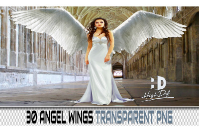 30 WINGS TRANSPARENT PNG Photoshop Overlays, Backdrops, Backgrounds