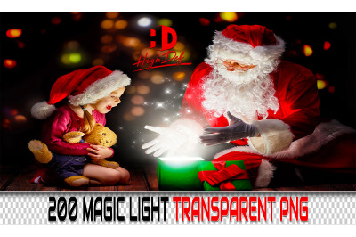 200 MAGIC Light TRANSPARENT PNG Photoshop Overlays, Backdrops