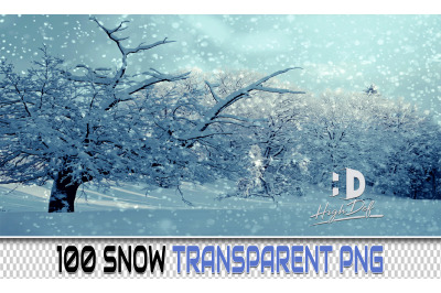 100 SNOW TRANSPARENT PNG Photoshop Overlays, Backdrops, Backgrounds