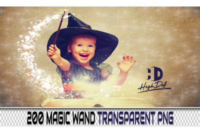 200 MAGIC Wand TRANSPARENT PNG Photoshop Overlays,Backdrops,Background