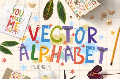 Alphabet for children (vector/png)