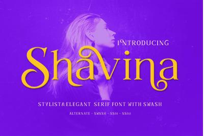 Shavina Beauty Serif Font