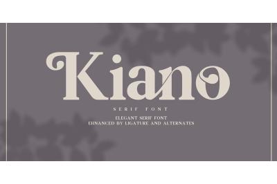 Kiano Serif Font