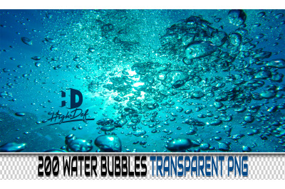 200 WATER BUBBLES TRANSPARENT PNG Photoshop Overlays, Backdrops