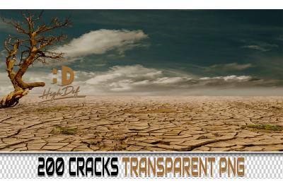 200 CRACKS TRANSPARENT PNG Photoshop Overlays, Backdrops, Backgrounds
