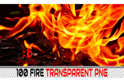 100 FIRE TRANSPARENT PNG Photoshop Overlays, Backdrops, Backgrounds