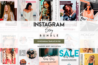 10 instagram story template set
