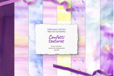 Cute confetti - seamless backgrounds