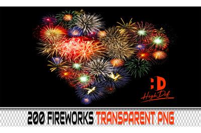 200 FIREWORK TRANSPARENT PNG Photoshop Overlays, Backdrops, Background