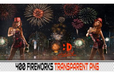 400 FIREWORK TRANSPARENT PNG Photoshop Overlays, Backdrops, Background
