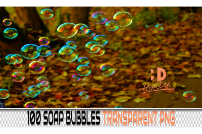 100 SOAP BUBBLES TRANSPARENT PNG Photoshop Overlays, Backdrops