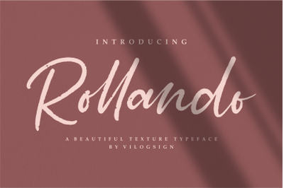 Rollando a texture typeface font