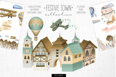 Festive town collection