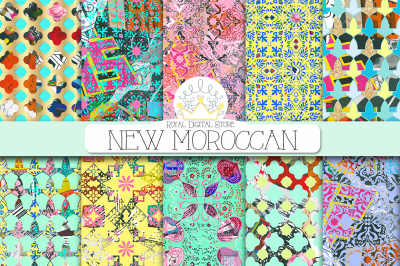 MOROCCAN mixed media digital paper