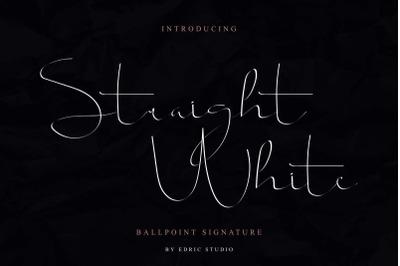 Straight white