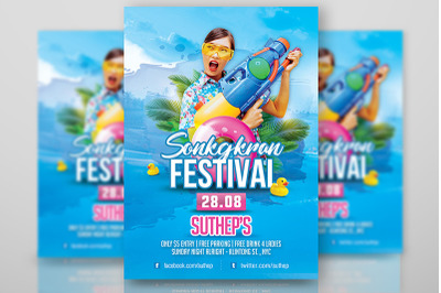 Songkran Festival Party Flyer Template