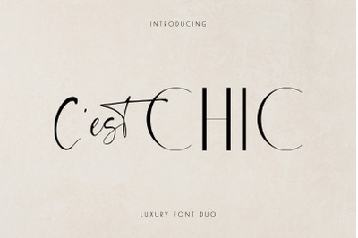 Chic Luxury Font Duo