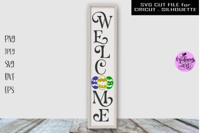 Welcome easter sign svg, easter porch sign svg