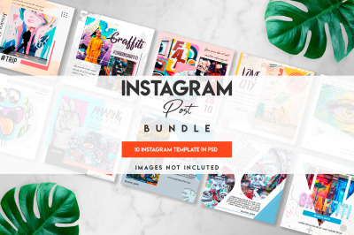 10 graffiti instagram post bundle