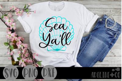 Sea ya'll, SVG, PNG, DXF
