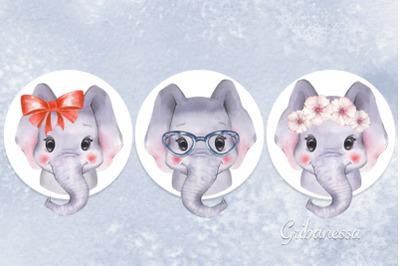 Cute elephants