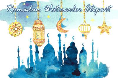 Ramadan watercolor clipart