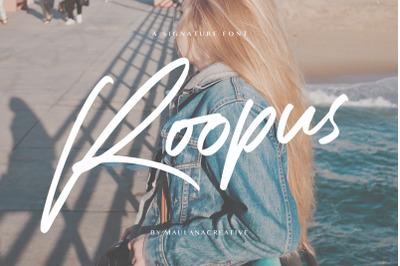 Roopus Signature Font